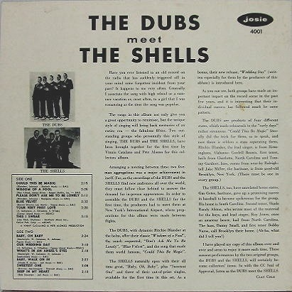JOZS-4001 - The Dubs Meet The Shells Back Cover