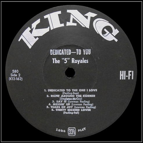 King 580 - Dedicated To You Side 2