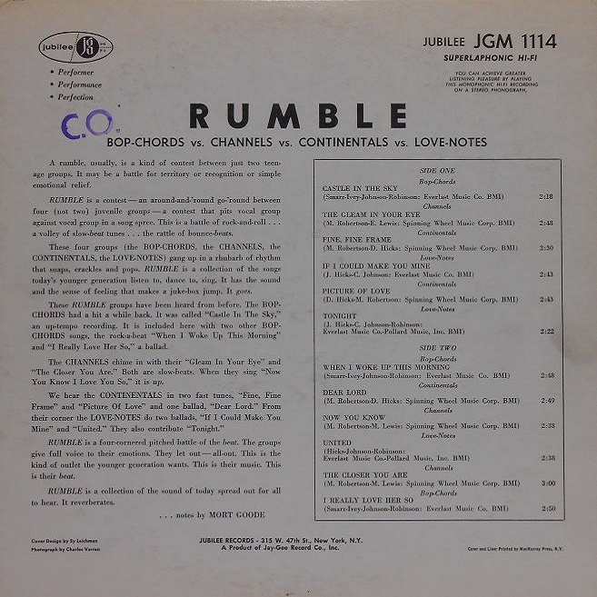 JGM-1114 - Rumble Back Cover