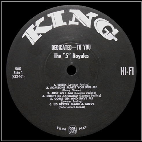 King 580 - Dedicated To You Side 1