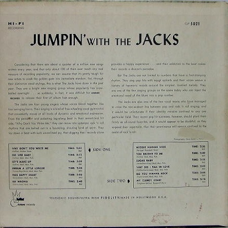 CLP-5021 - Jumpin' With The Jacks Back Cover