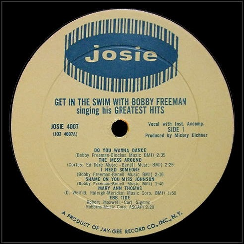JOZ-4007 - Get In The Swim With Bobby Freeman Singing His Greatest Hits Side1