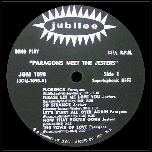 JGM-1098 - The Paragons Meet The Jesters Side 1