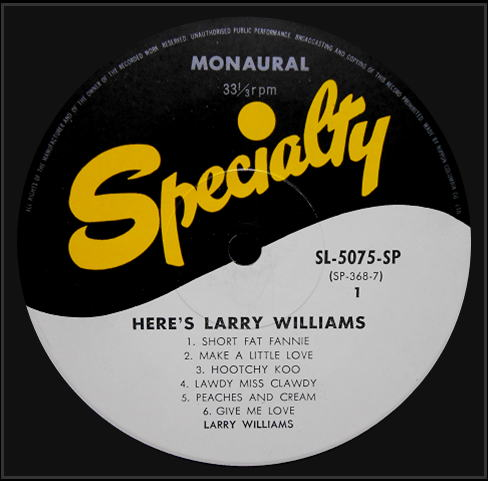 SP-2109 - Here's Larry Williams