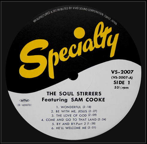 SP-2106 - The Soul Stirrers, Featuring Sam Cooke