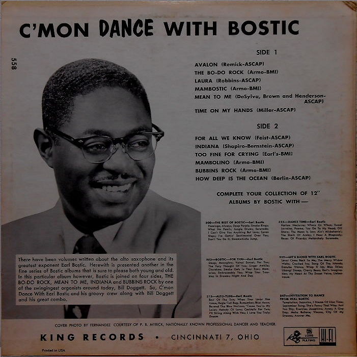 King 558 - C'mon and Dance Back Cover