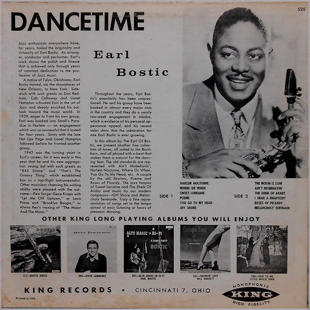 King 525 - Dance Time Back Cover