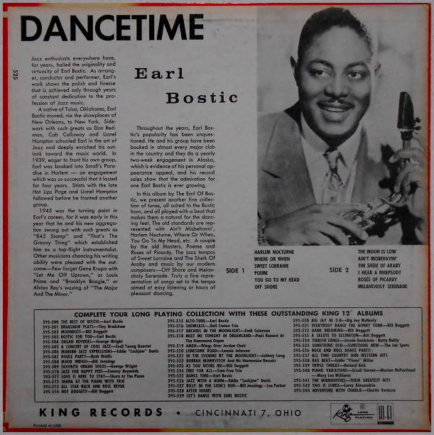 King 395-525 - Dance Time Back Cover