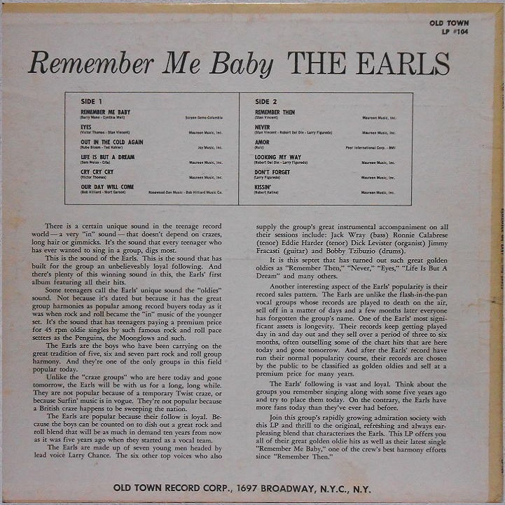 LP-104 - Remember Me Baby Back Cover
