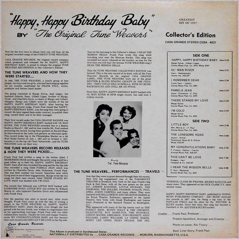 CGSA-4037 - Happy, Happy Birthday Baby Back Cover