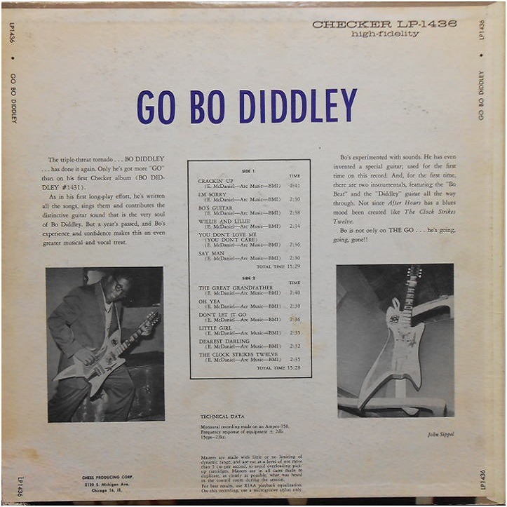 Checker LP-1436 - Go Bo Diddley Back Cover