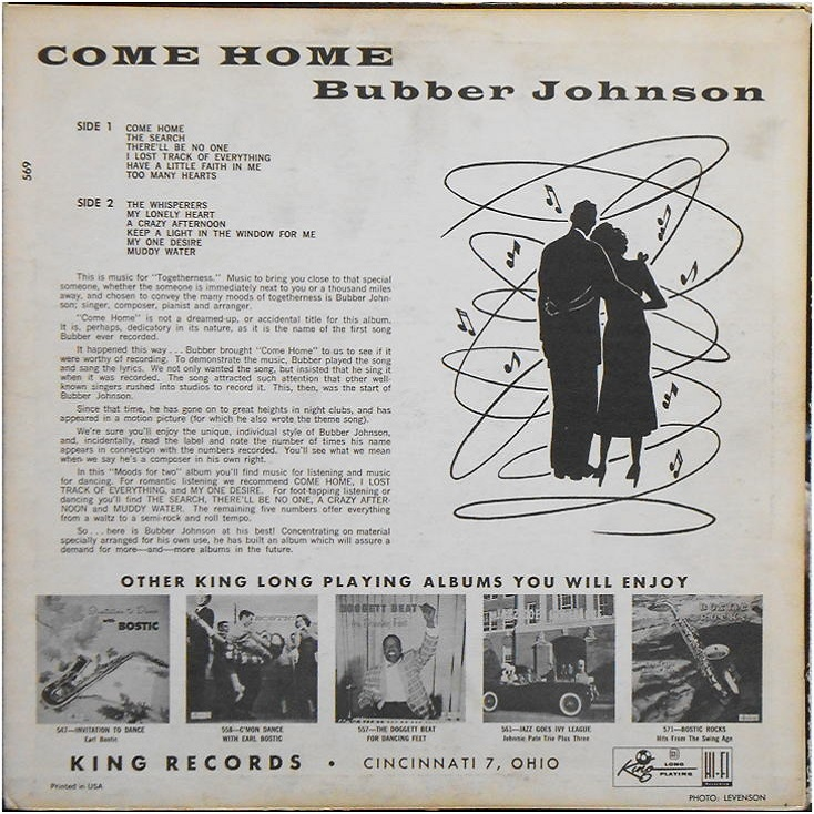 King 569 - Come Home Back Cover