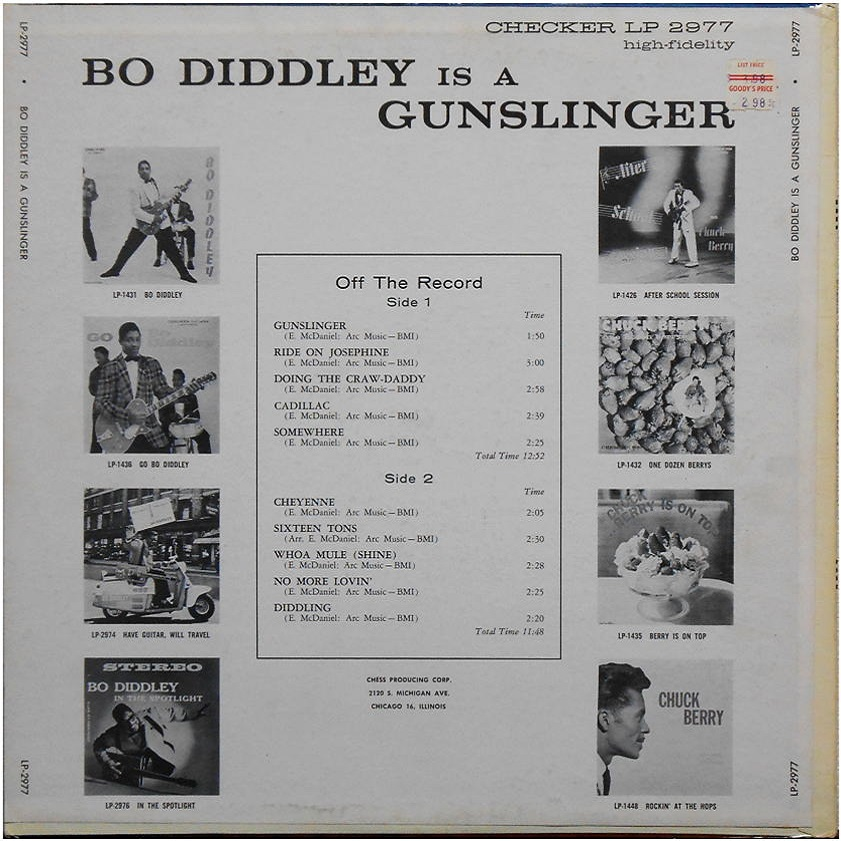 Checker LP-2977 - Bo Diddley Is A Gunslinger Back Cover