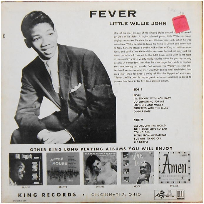 King 564 - Fever Back Cover