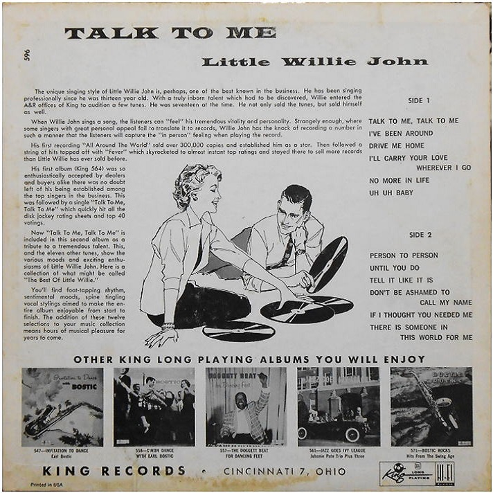 King 596 - Talk To Me Back Cover