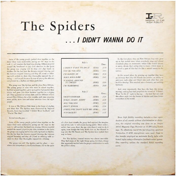 LP-9140 - I Didn't Wanna Do It Back Cover