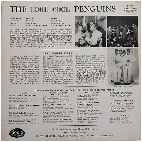 DTL-242 - The Cool, Cool Penguins Back Cover